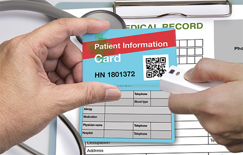Qr  barcode scanner for healthcare management